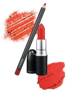 MAC Lip Pencil and Lipstick